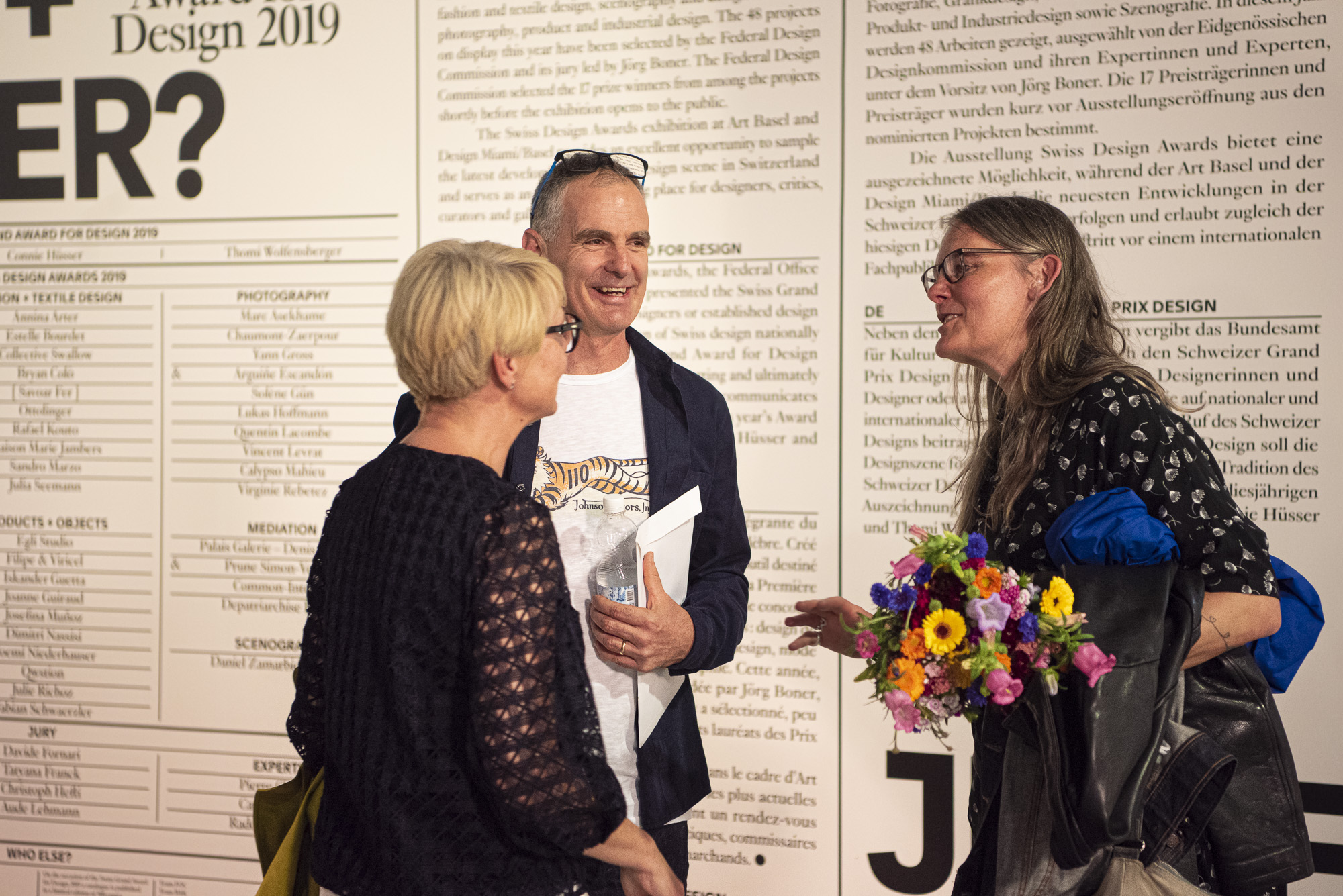 Grand Prix Design 2019 winner Thomi Wolfensberger and his wife Karoline (right)